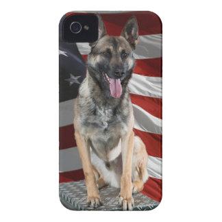 German shepherd usa - patriotic dog - usa flag iPhone 4 Case-Mate cases
