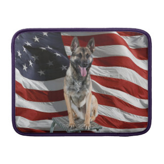 German shepherd usa - patriotic dog - usa flag MacBook sleeve