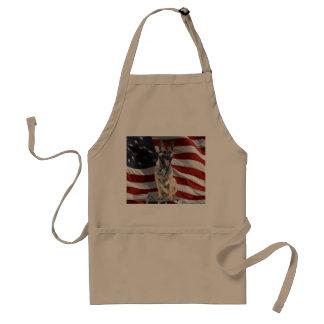 German shepherd usa - patriotic dog - usa flag standard apron