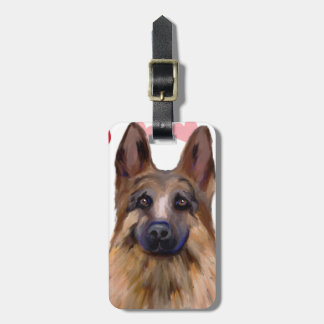 German Shepherd Valentine Bag Tag