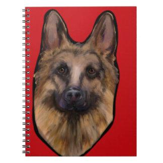 German Shepherd Valentine Notebook