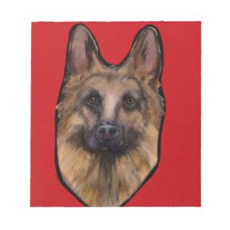 German Shepherd Valentine Notepad