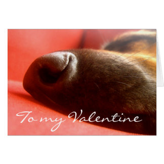 German Shepherd Valentine'sCard Card