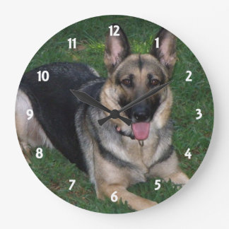 German Shepherd: Wall Clock