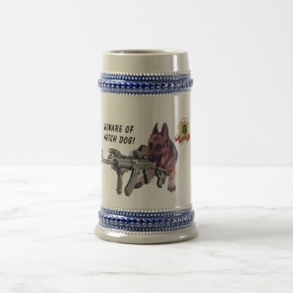 German Shepherd Watch Dog Beer Stein