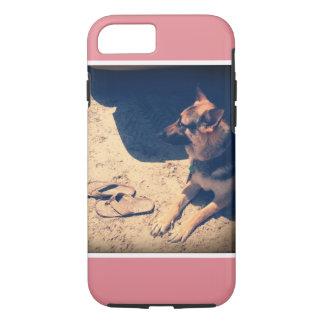 German Shepherd with Flip Flops iPhone 7 Case