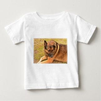 German Shepherd with One Floppy Ear Baby T-Shirt