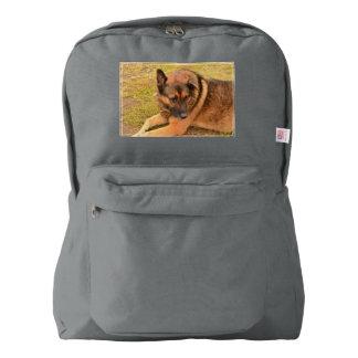 German Shepherd with One Floppy Ear Backpack