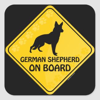 German Shepherd Xing Square Sticker