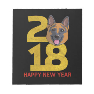 German shepherd Year of the Dog 2018 New Year Notepad