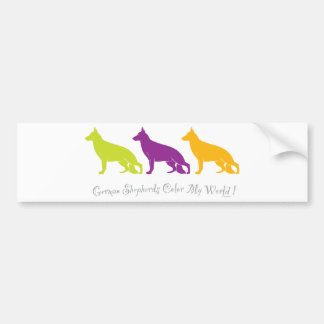 German Shepherds Color My World ! Bumper Sticker