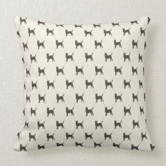 German Shepherds on Cream Background Throw Pillow