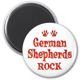 German Shepherds Rock Magnet