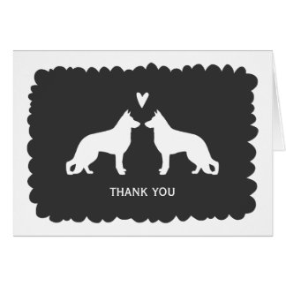German Shepherds Wedding Thank You Card