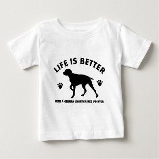 german short haired point dog design baby T-Shirt