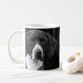 GERMAN SHORTHAIR POINTER BLACK AND WHITE PHOTO MUG