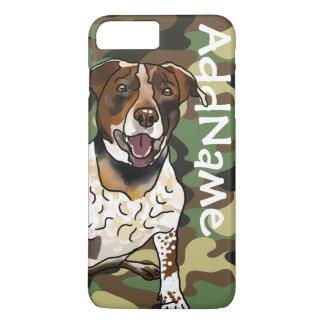 German Shorthair Pointer Mix + Pet Name + Camo Case-Mate iPhone Case