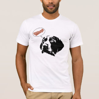 """German Shorthaired Pointer """"Bacon"""" Graphic T-Shirt"""