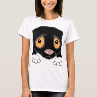 german shorthaired pointer black and white peeking T-Shirt
