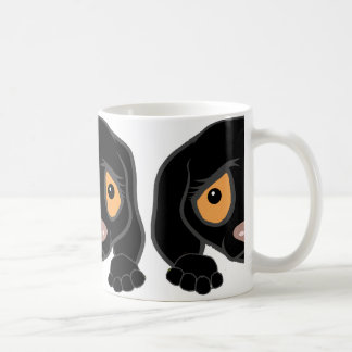 german shorthaired pointer black peeking coffee mug