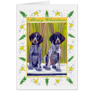 German Shorthaired Pointer Blank Christmas Card