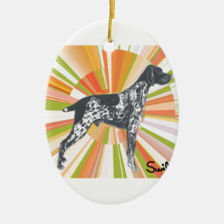 German Shorthaired Pointer Ceramic Oval Ornament