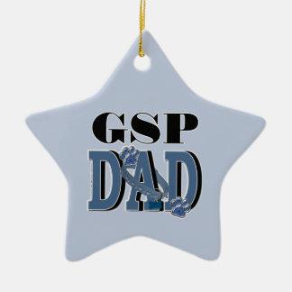 German Shorthaired Pointer DAD Ceramic Star Ornament