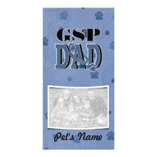 German Shorthaired Pointer DAD Photo Card Template