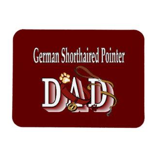 German Shorthaired Pointer Dad Rectangular Photo Magnet