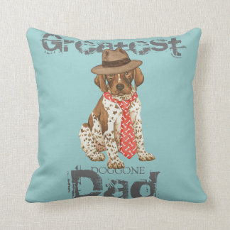 German Shorthaired Pointer Dad Throw Pillow