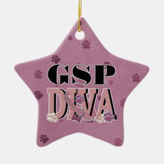 German Shorthaired Pointer DIVA Ceramic Star Ornament