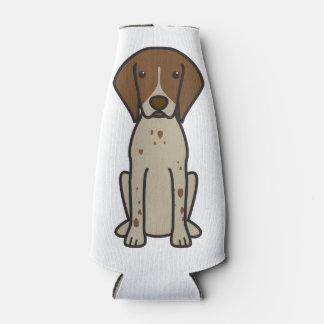German Shorthaired Pointer Dog Cartoon Bottle Cooler
