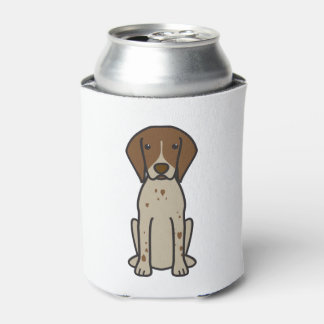 German Shorthaired Pointer Dog Cartoon Can Cooler