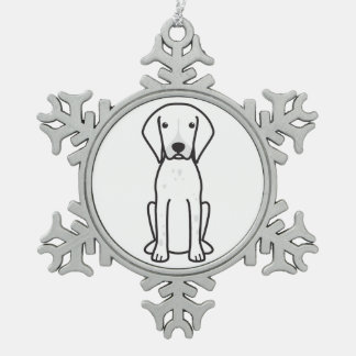 German Shorthaired Pointer Dog Cartoon Pewter Snowflake Ornament