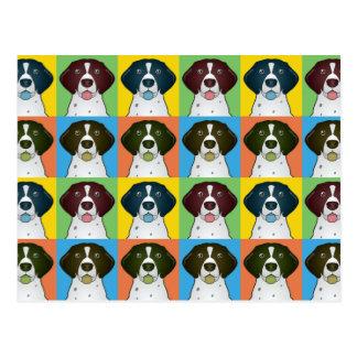 German Shorthaired Pointer Dog Cartoon Pop-Art Postcard