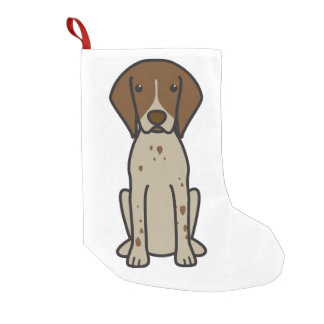 German Shorthaired Pointer Dog Cartoon Small Christmas Stocking