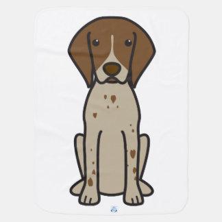 German Shorthaired Pointer Dog Cartoon Stroller Blanket