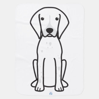 German Shorthaired Pointer Dog Cartoon Swaddle Blanket