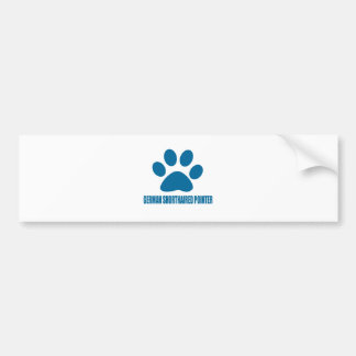 GERMAN SHORTHAIRED POINTER DOG DESIGNS BUMPER STICKER