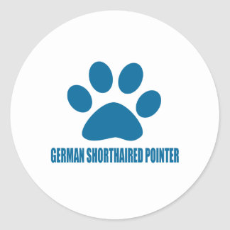 GERMAN SHORTHAIRED POINTER DOG DESIGNS CLASSIC ROUND STICKER