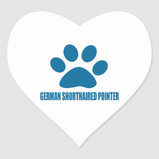 GERMAN SHORTHAIRED POINTER DOG DESIGNS HEART STICKER