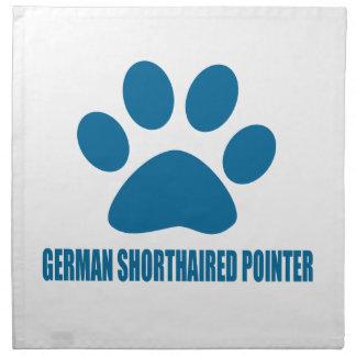GERMAN SHORTHAIRED POINTER DOG DESIGNS NAPKIN