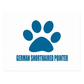 GERMAN SHORTHAIRED POINTER DOG DESIGNS POSTCARD