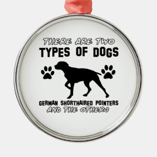 german shorthaired pointer dog designs Silver-Colored round ornament