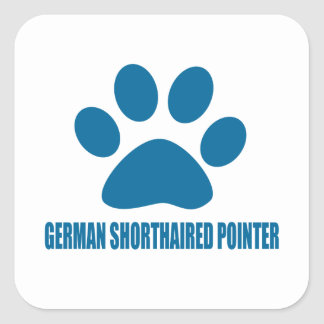GERMAN SHORTHAIRED POINTER DOG DESIGNS SQUARE STICKER
