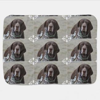 German Shorthaired Pointer Dog Receiving Blanket