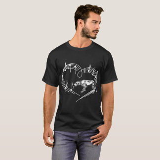 German Shorthaired Pointer Dog Rhythm Heartbeats T-Shirt