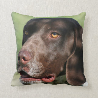 German Shorthaired pointer dog Throw Pillow