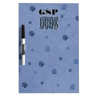 German Shorthaired Pointer DUDE Dry Erase White Board