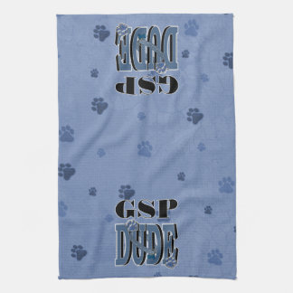 German Shorthaired Pointer DUDE Hand Towels